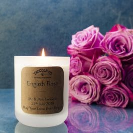 English Rose | Personalised Wedding Candle