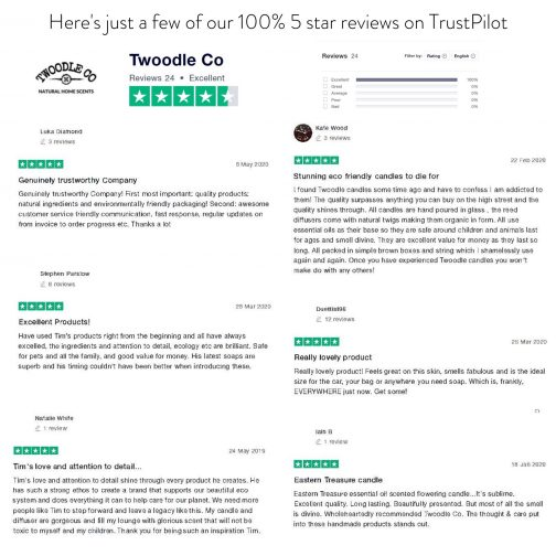 Reviews twoodle co natural home scents