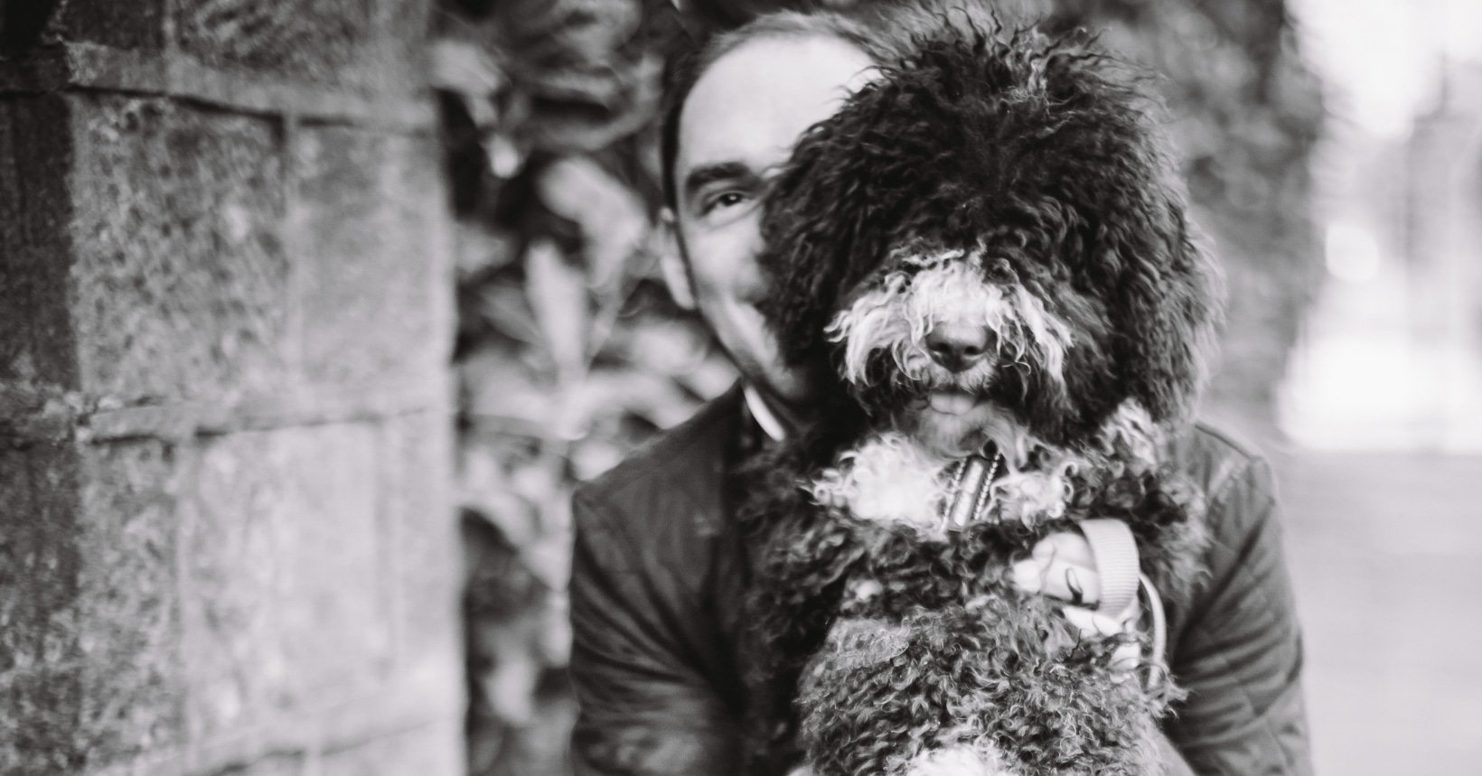 Twoodle Co Founder Tim Rundle Wood with Henry the dog
