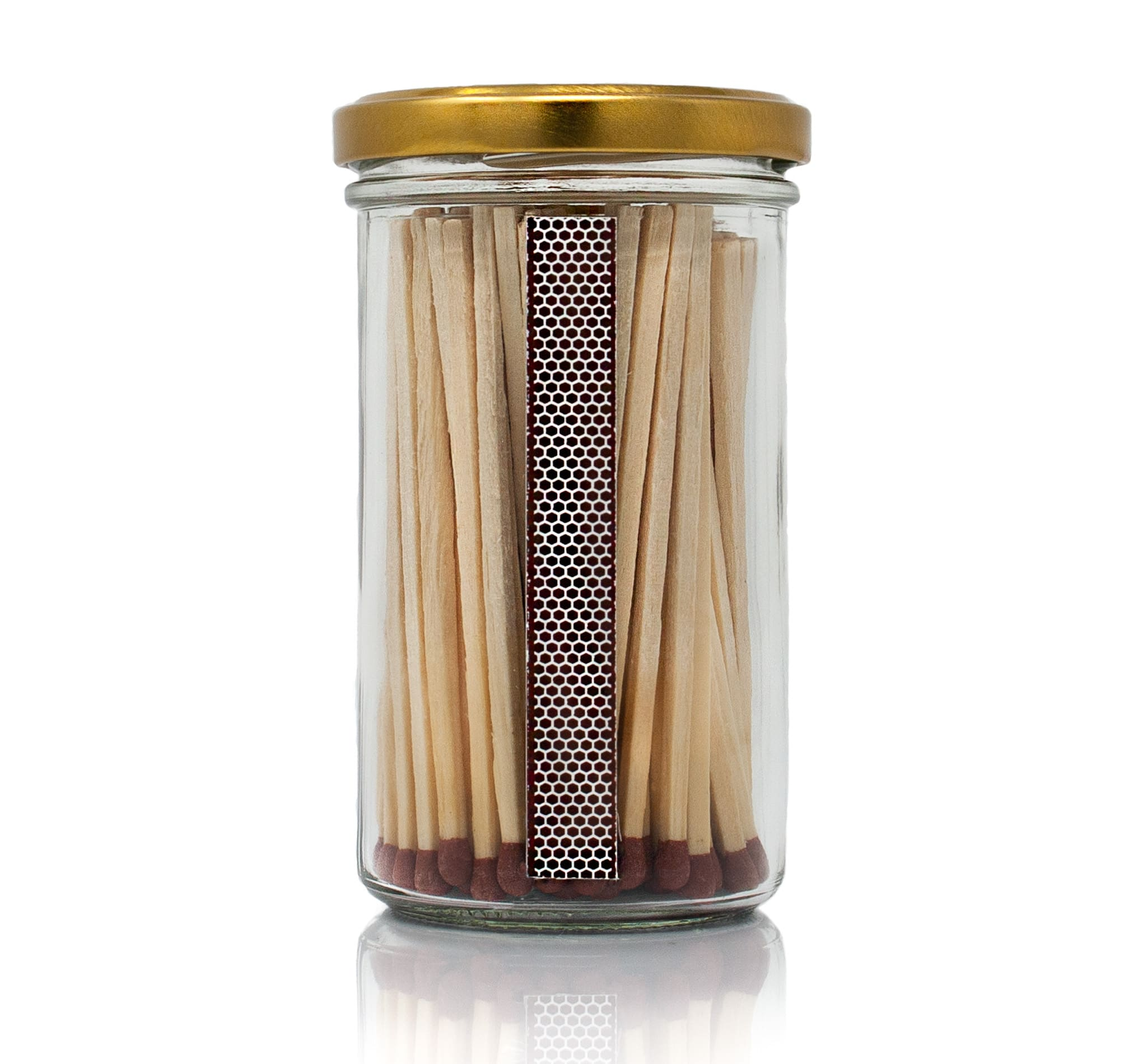 Extra long candle matches signature vintage jar back by Twoodle Co Natural Home Scents
