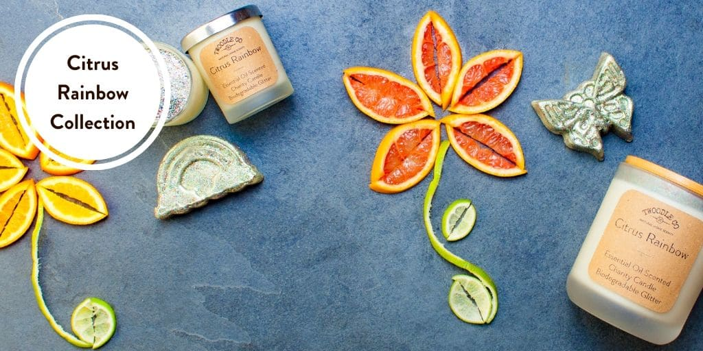 Citrus Rainbow LGBT Charity Collection handmade in London by Twoodle Co Natural Home Scents