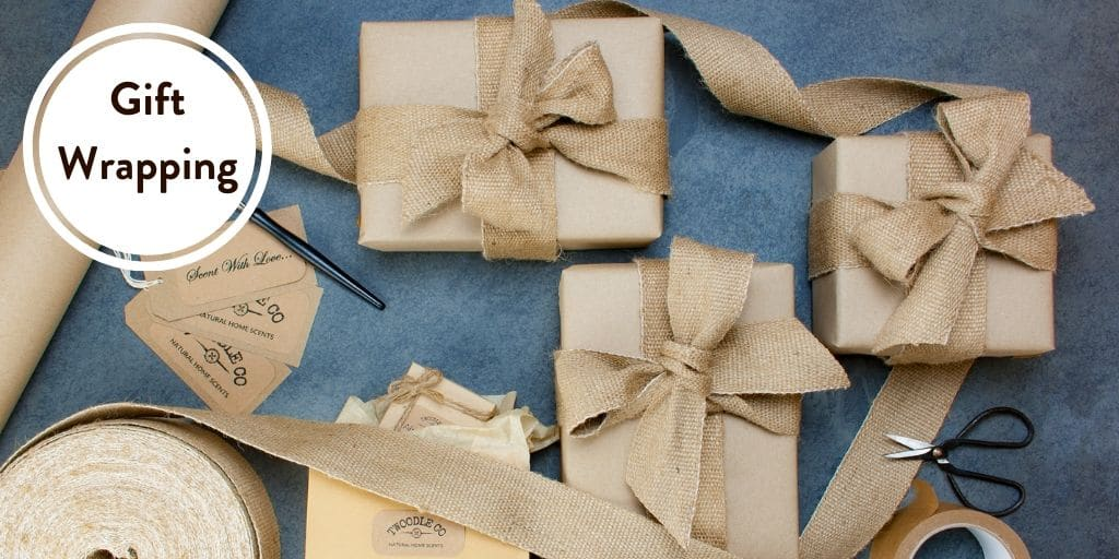 Gift Wrapping by Twoodle Co Natural Home Scents