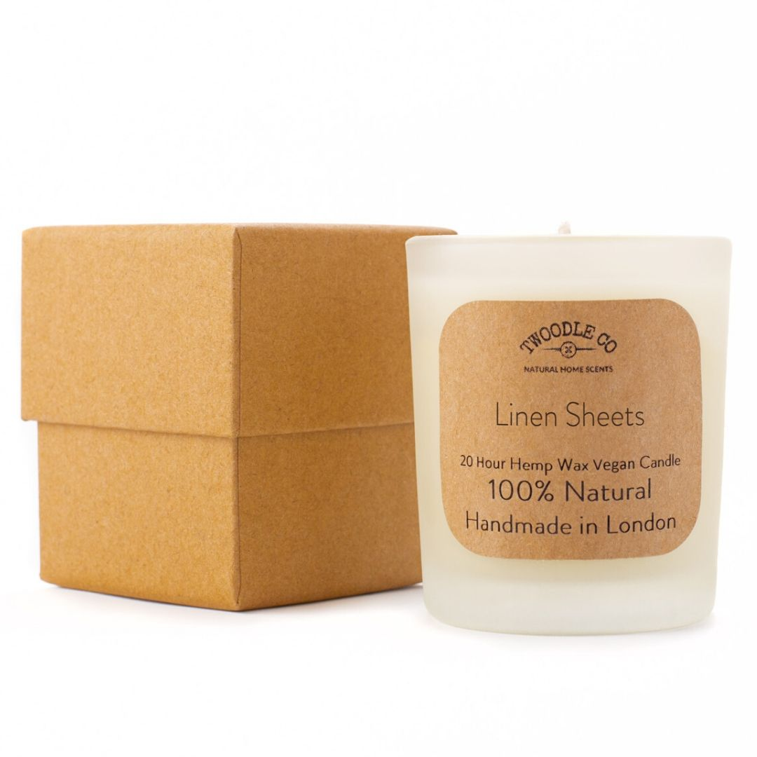 Linen Sheets Small Scented Candle 20 Hour