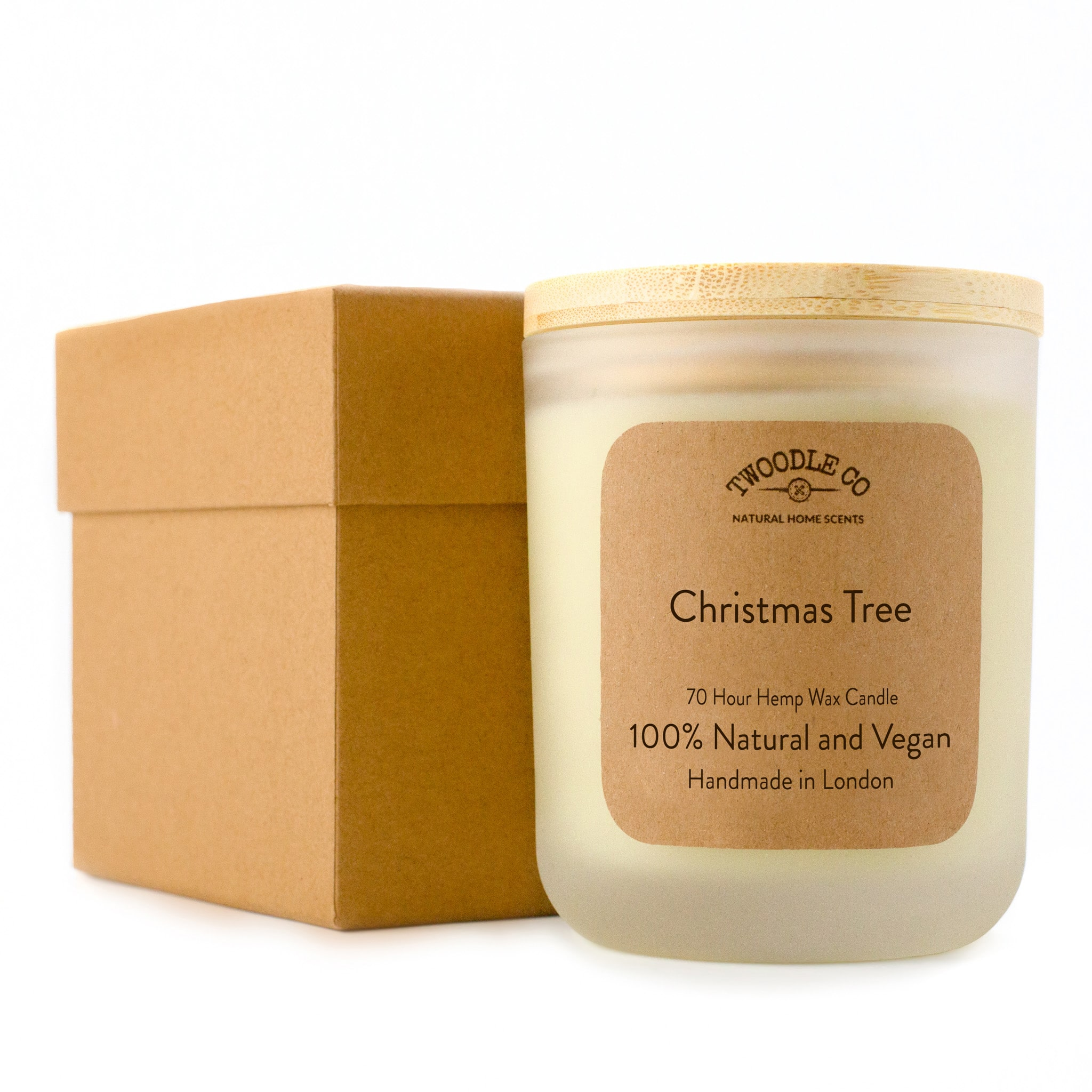 Twoodle Co Large Scented Candle Christmas Tree