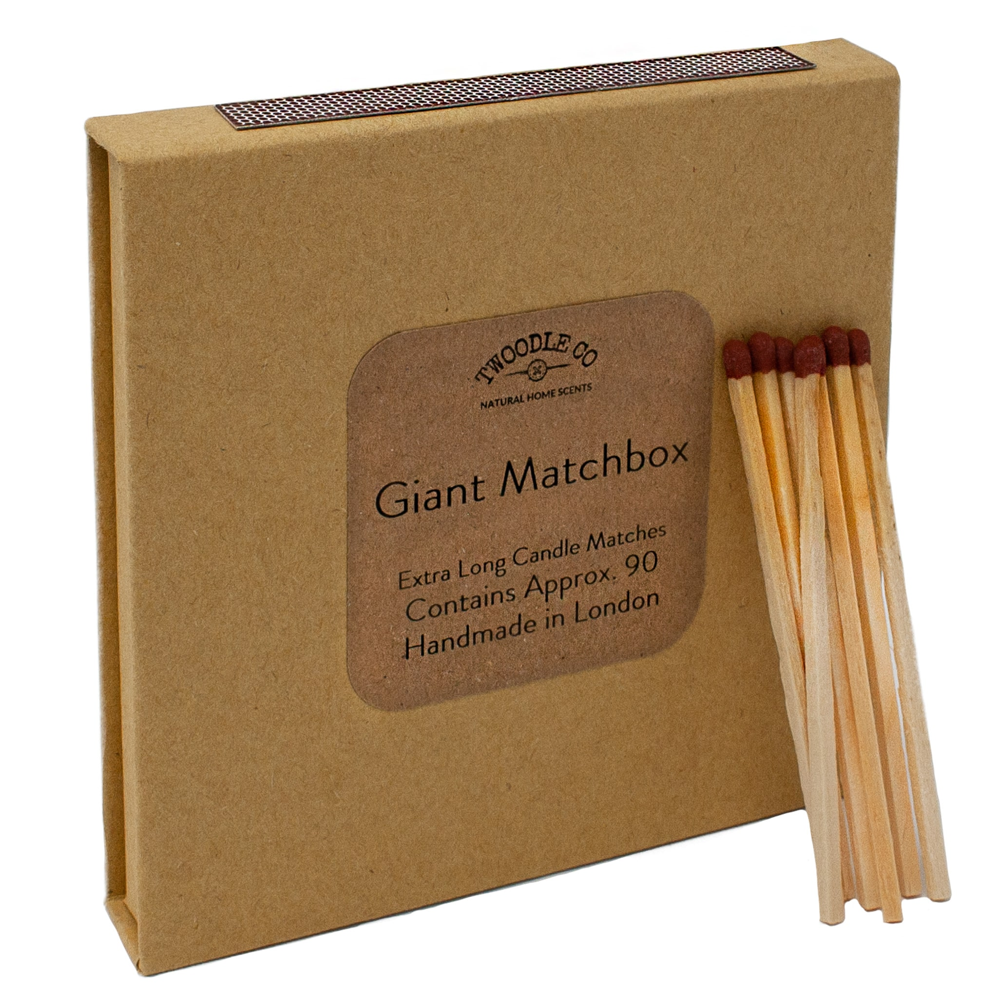 Giant match box extra long candle matches by Twoodle Co Natural Home Scents 2