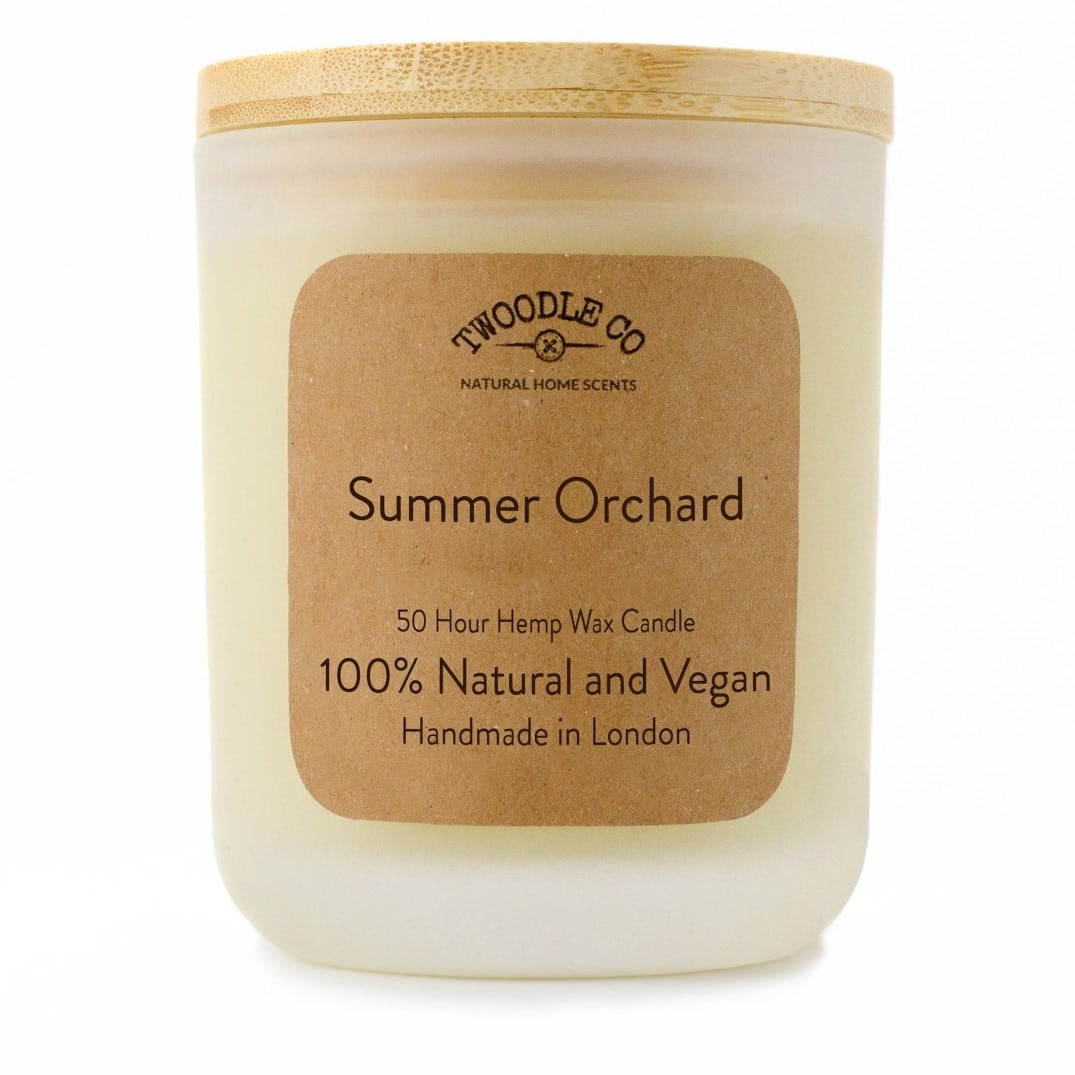 Summer Orchard Medium Scented Candle by Twoodle Co Natural Home Scents 1