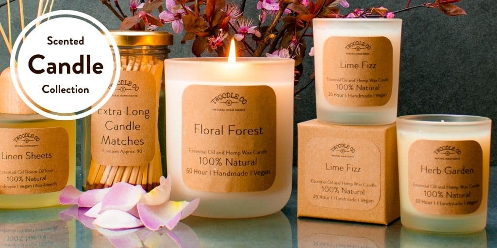 The Scented Candle Collection by Twoodle Co Natural Home Scents