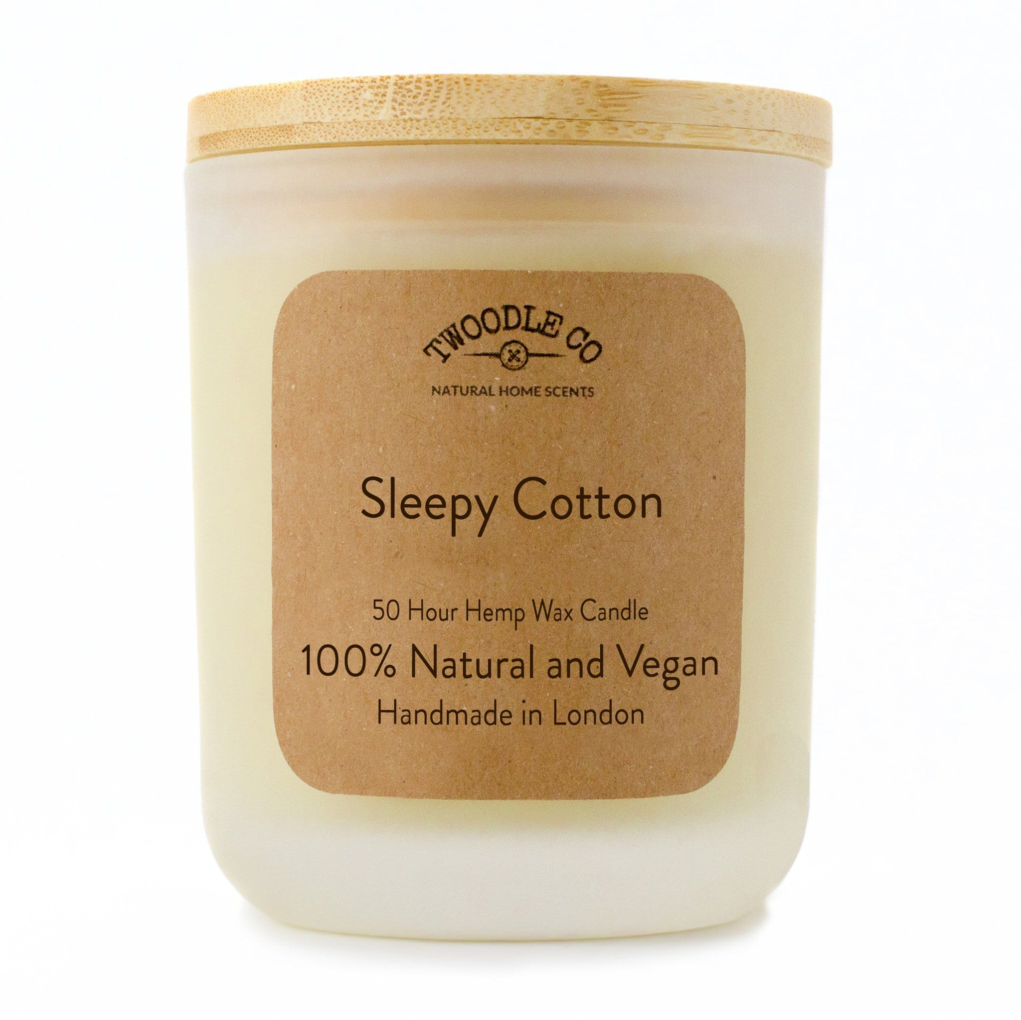 Twoodle Co Medium Scented Candle Sleepy Cotton