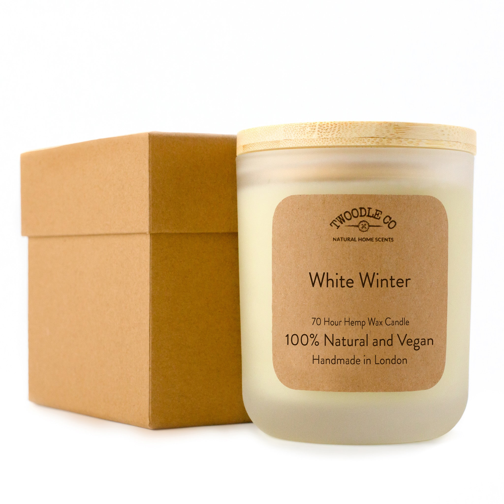 White Winter Large Scented Candle 70 Hour