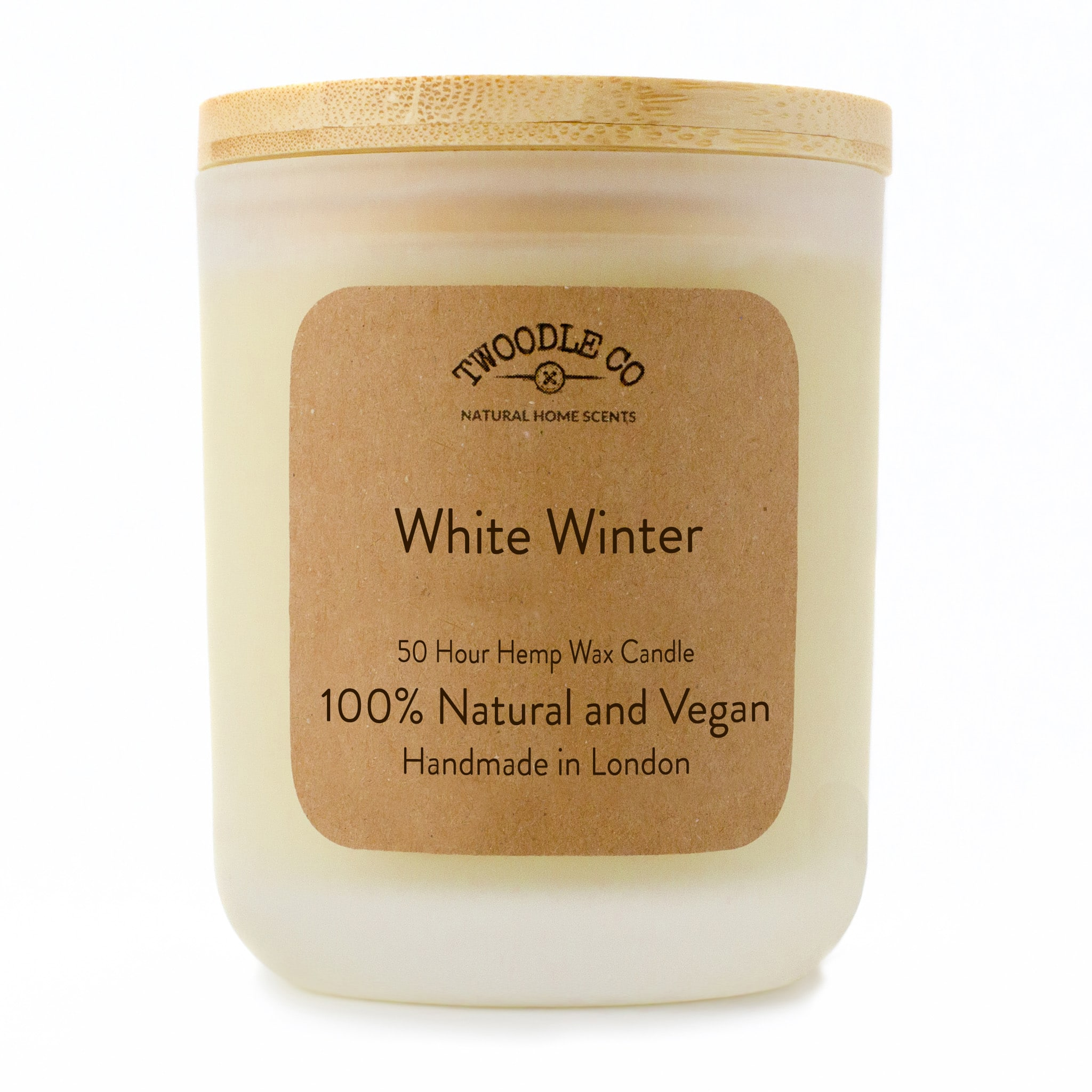 Twoodle Co Medium Scented Candle White Winter