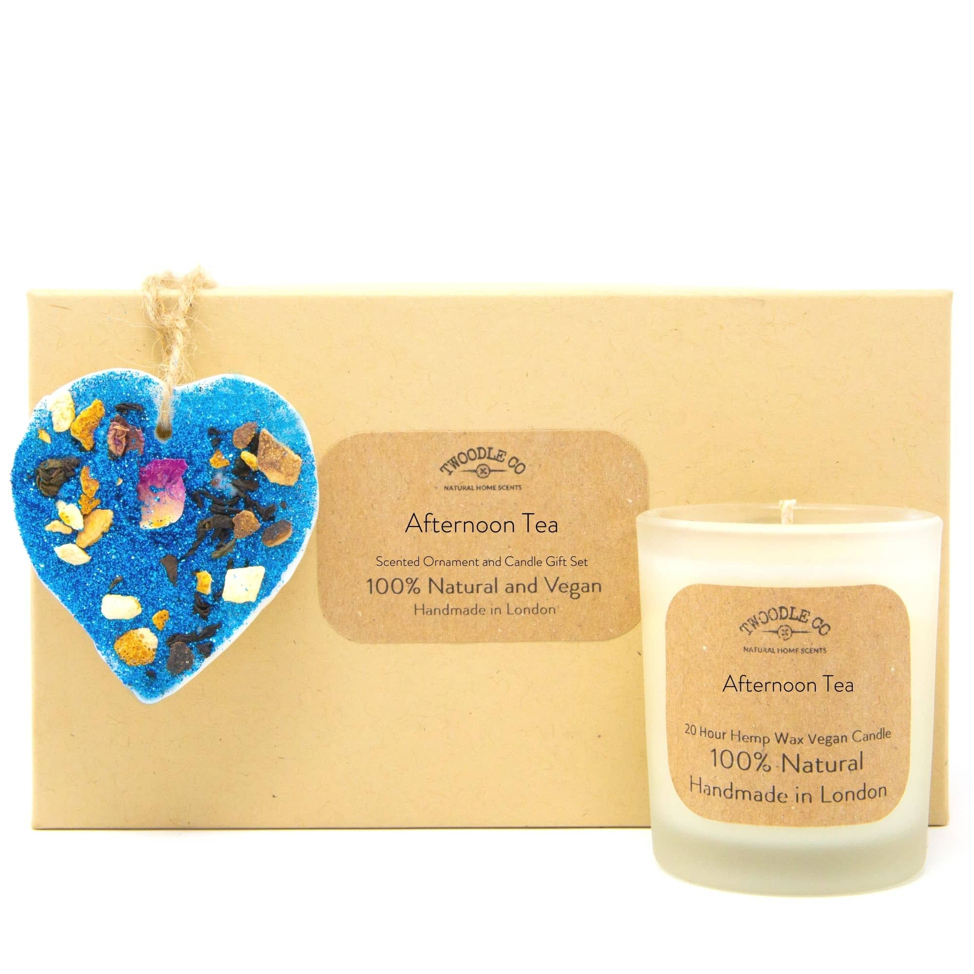 Afternoon Tea Scented Ornament and Candle Gift Set by twoodle co natural home scents