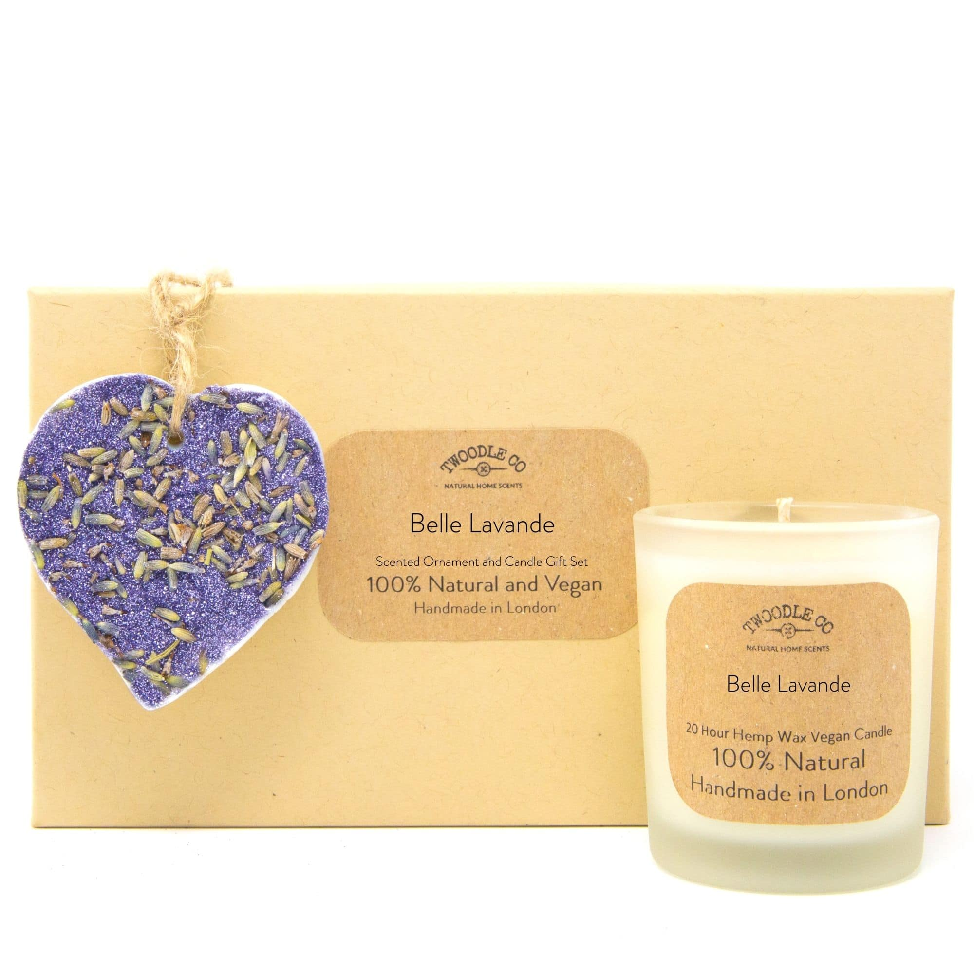 Belle Lavande | Scented Ornament and Candle Gift Set