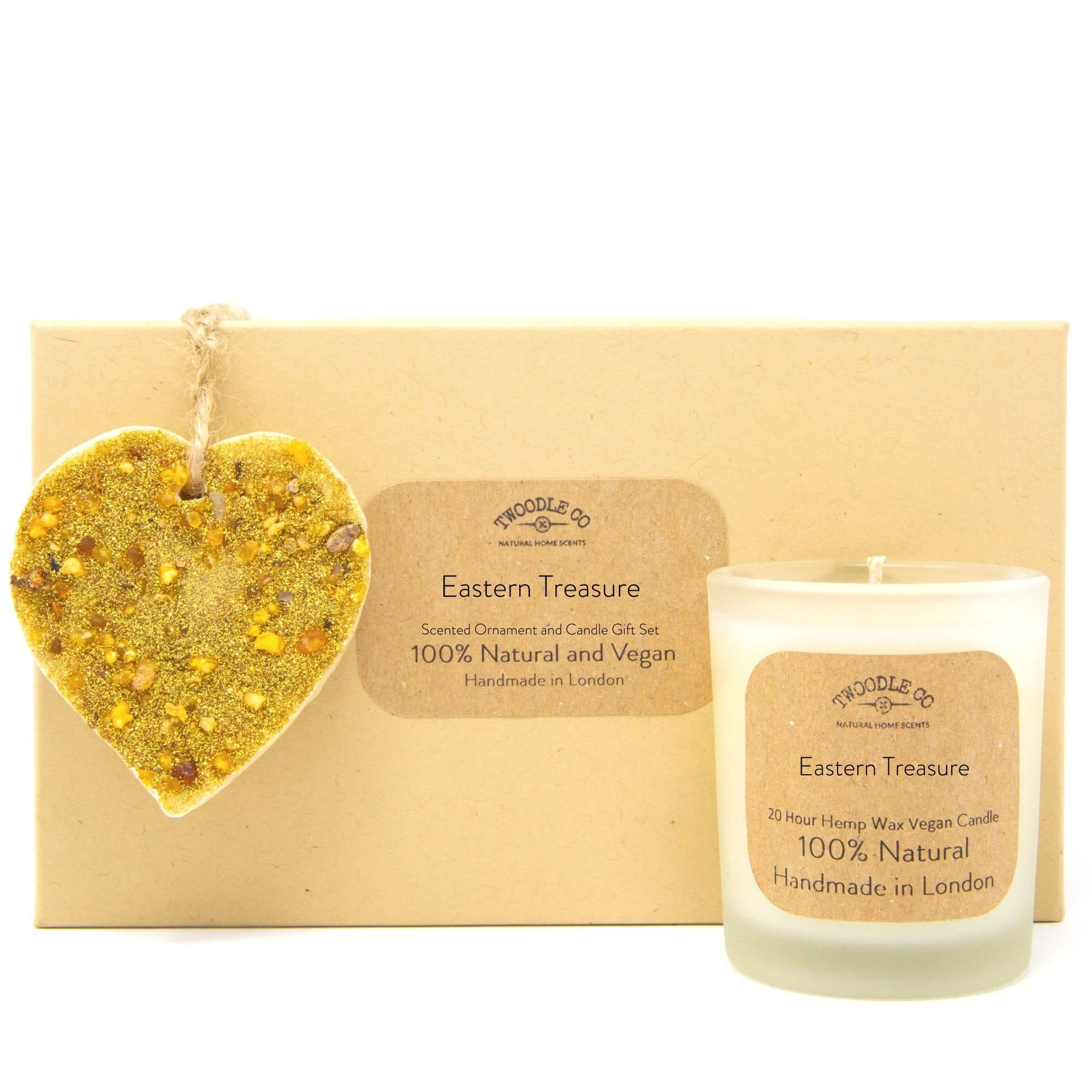 Eastern Treasure Scented Ornament and Candle Gift Set by twoodle co natural home scents
