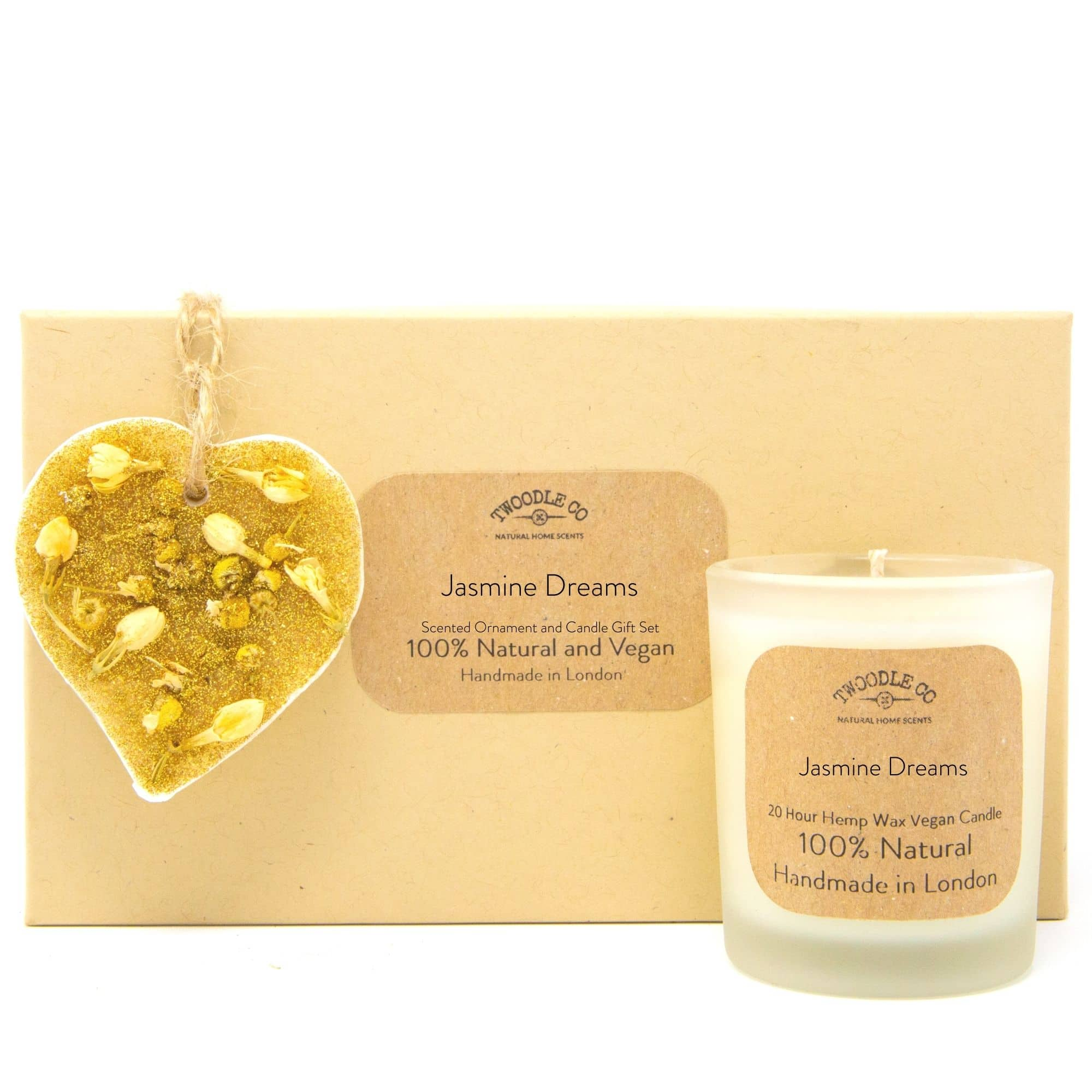 Jasmine Dreams | Scented Ornament and Candle Gift Set