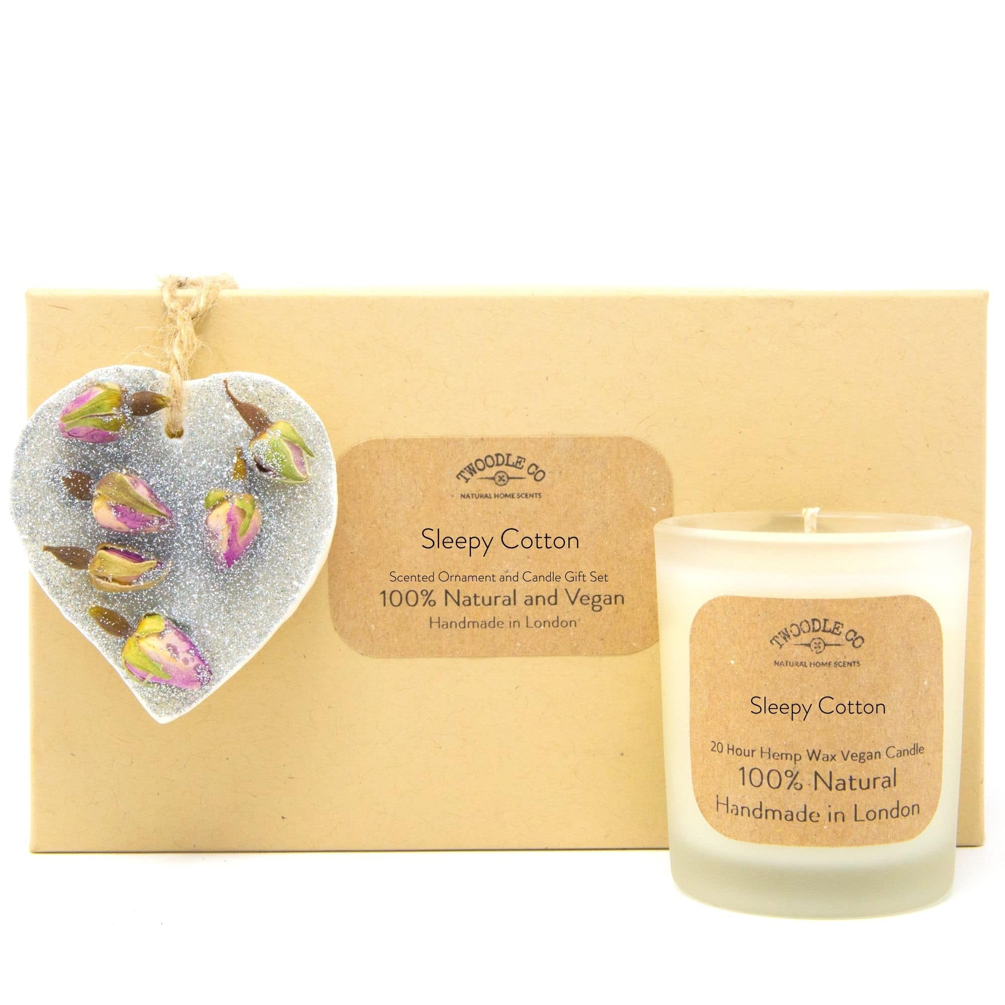 Sleepy Cotton | Scented Ornament and Candle Gift Set