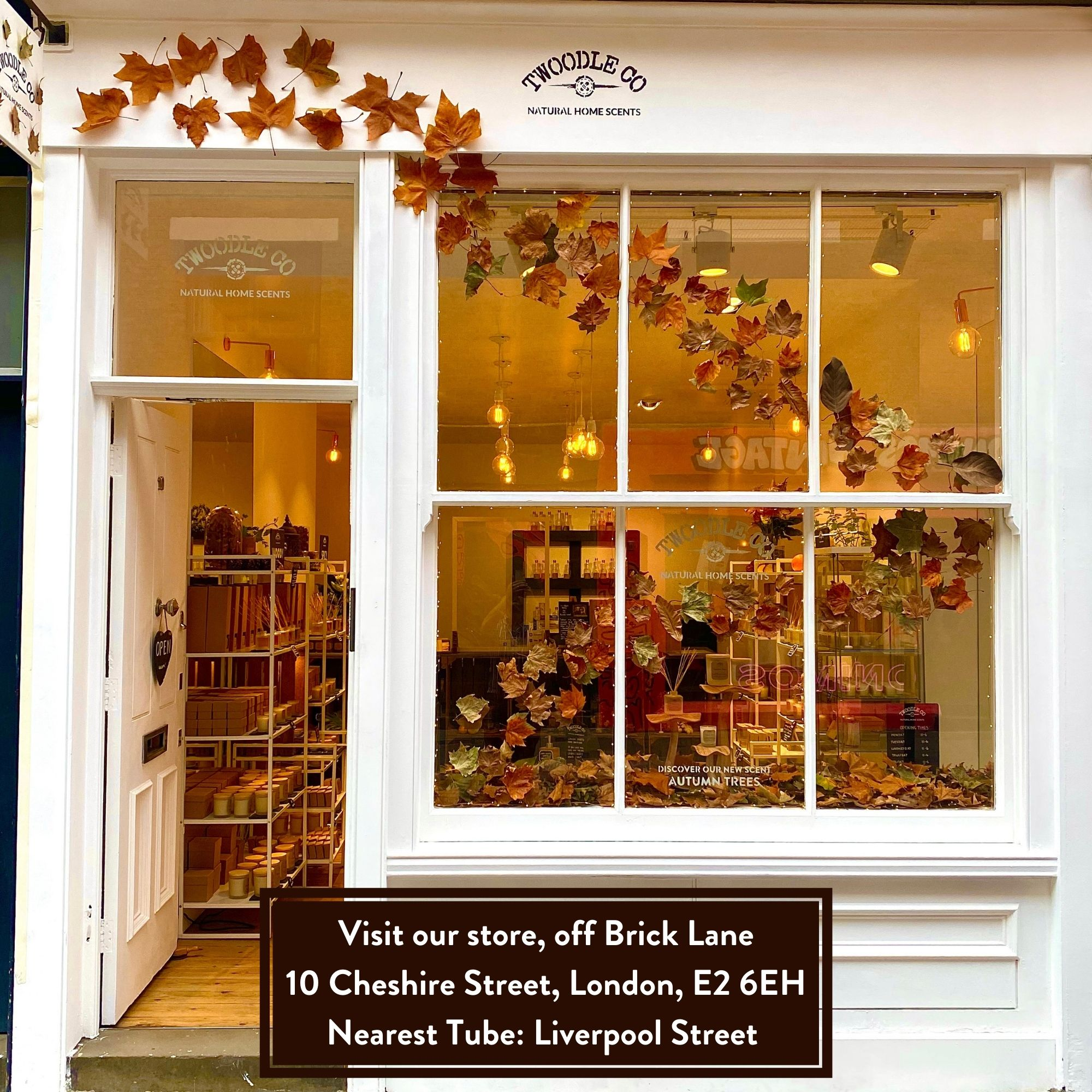 Visit our London store twoodle co natural home scents 1