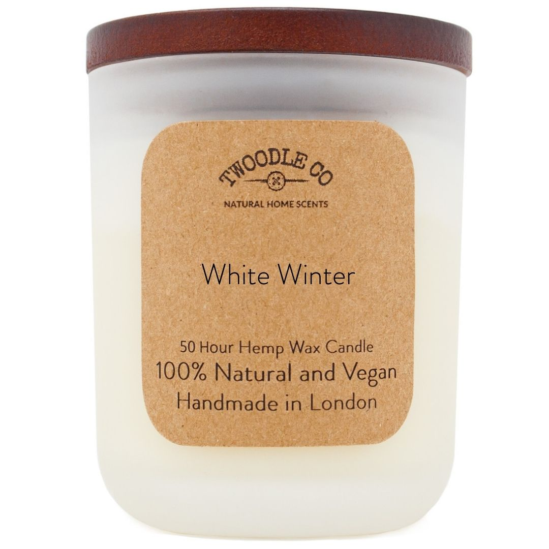 White Winter Medium Scented Candle 50 Hour
