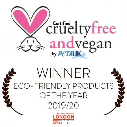 certified cruelty free and Vegan by PETA UK Eco friendly products of the Year 2019 20 Twoodle Co natural home scents