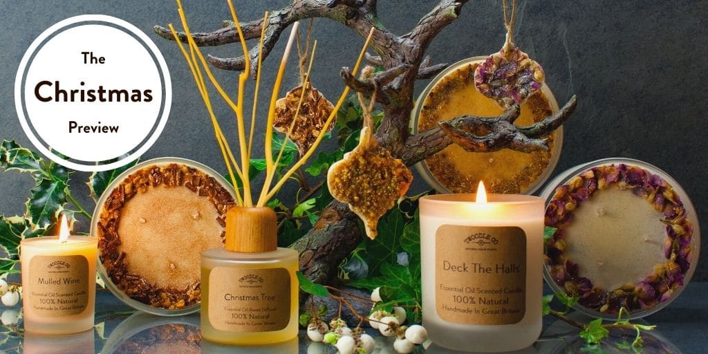 Christmas Collection Preview Scented Candles Room Diffusers and Christmas Ornaments by Twoodle Co Natural Home Scents