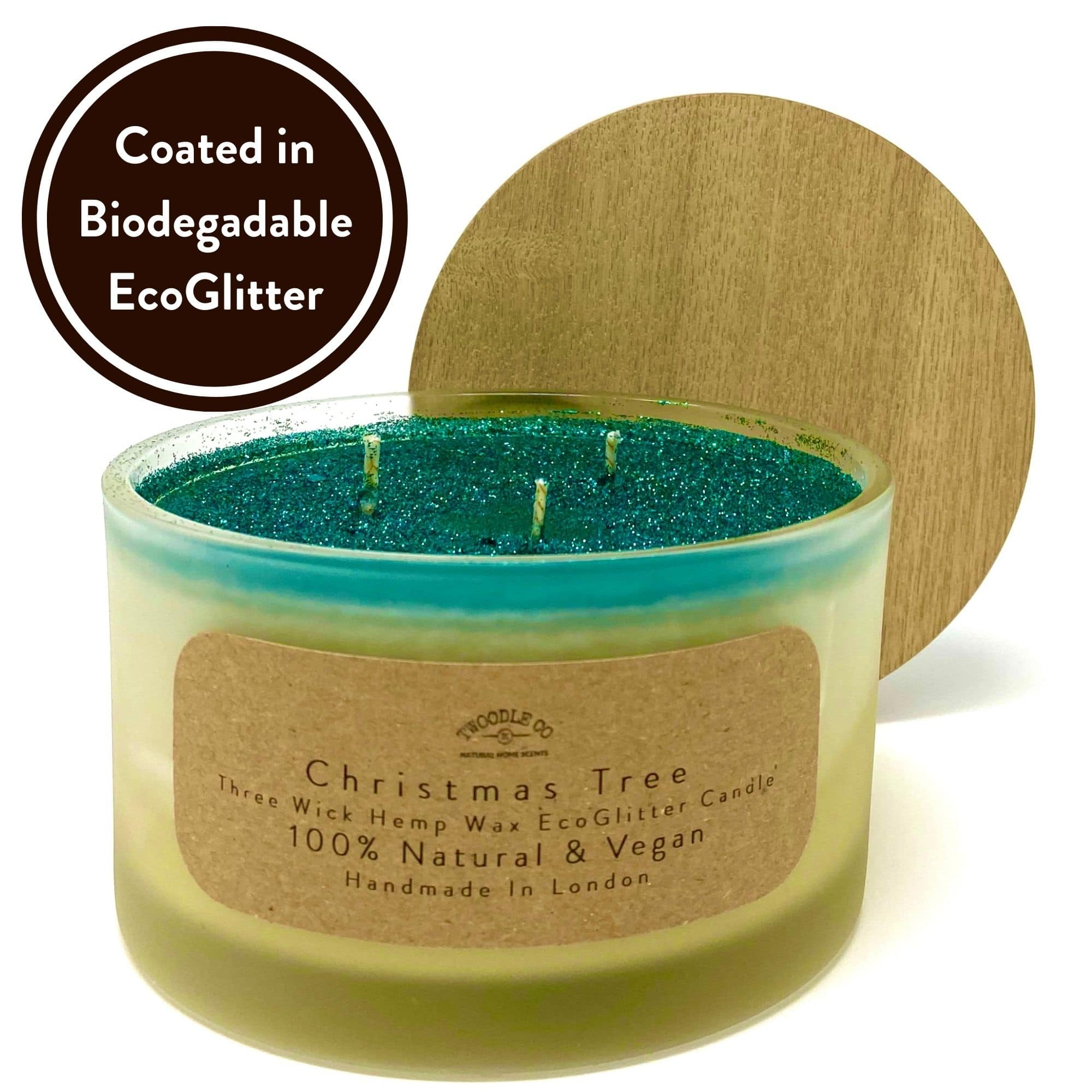 Christmas Tree Three Wick Scented Candle