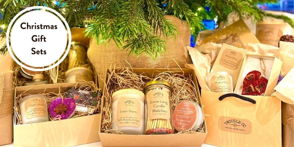 Christmas gift sets by twoodle co natural home scents