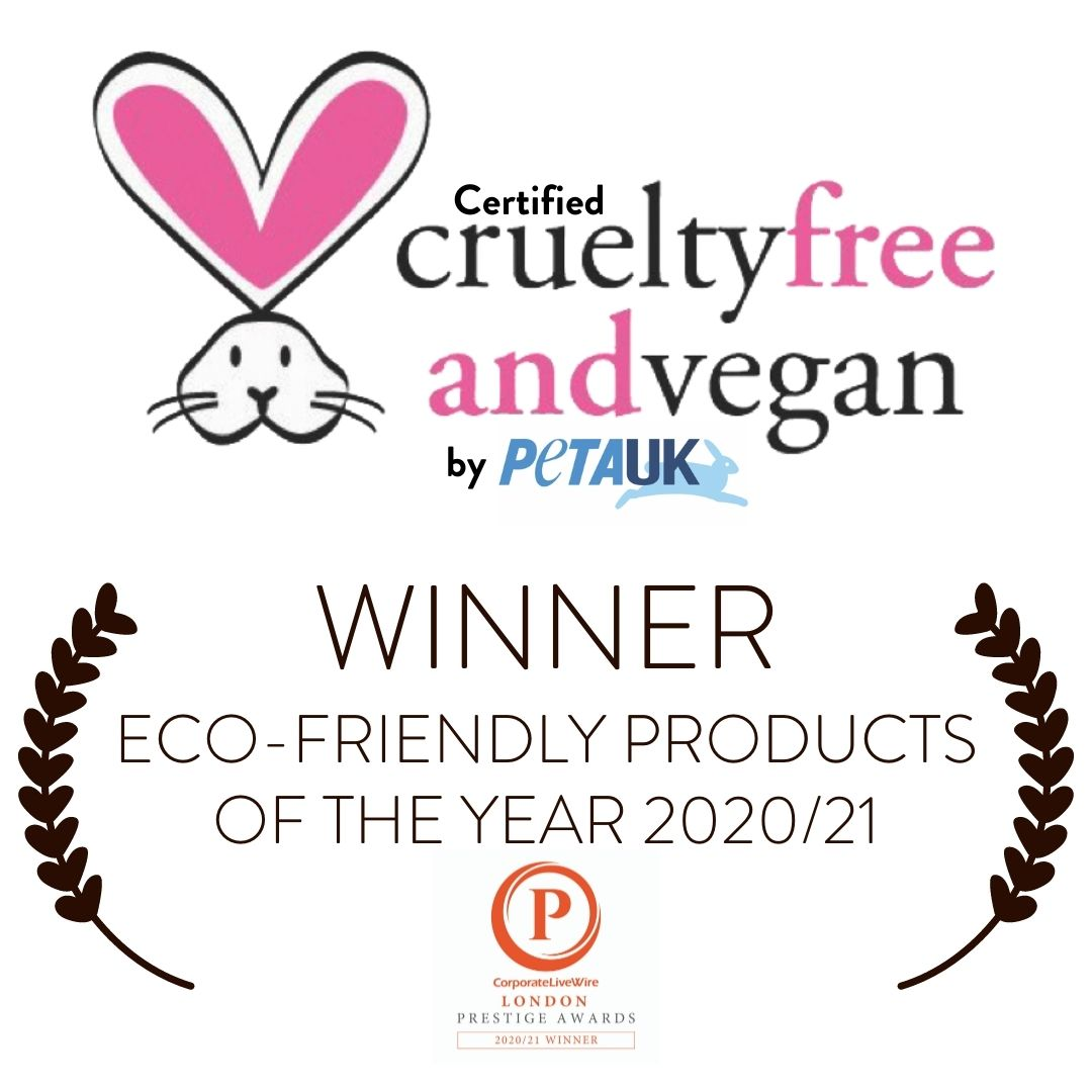 certified cruelty free and Vegan by PETA UK Eco friendly products of the Year 2020 21 Twoodle Co natural home scents